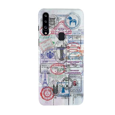 Stamp Cover Case for Samsung Galaxy A20S