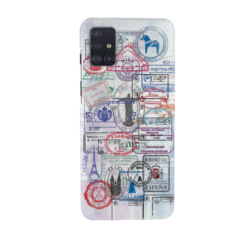 Stamp Cover Case for Samsung Galaxy A51