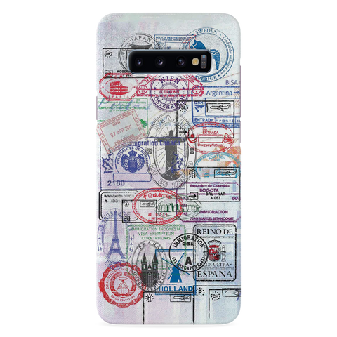 Stamp Cover Case for Samsung Galaxy S10 Plus