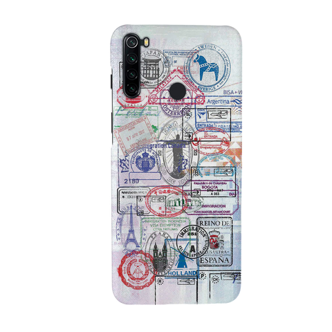 Stamp Cover Case for Redmi Note 8