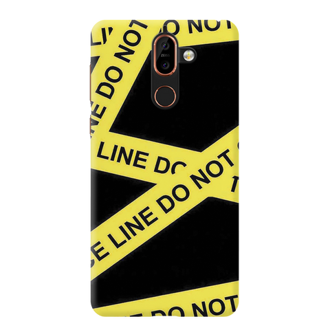 Black Don't Cross Cover Case For Nokia 7 Plus