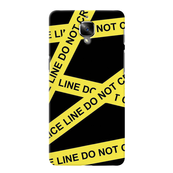 Black Don't Cross Cover Case For OnePlus 3/3T