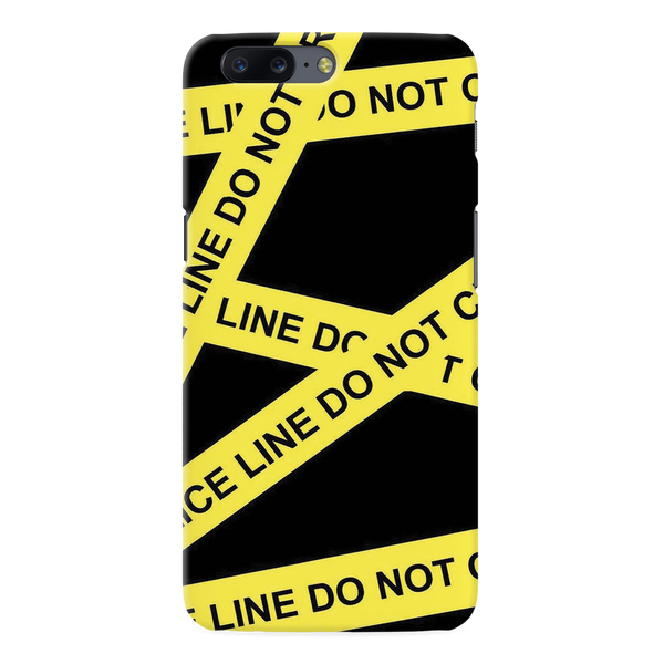 Black Don't Cross Cover Case For OnePlus 5