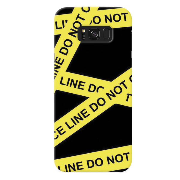 Black Don't Cross Cover Case For Samsung Galaxy S8