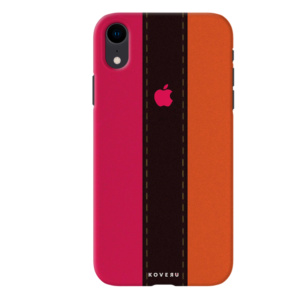 Fuchsia Pink Orange Stripes Cover Case for iPhone XR