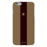 Dairy Cream And Brown Bramble Stripes Cover Case for iPhone 6/6s Plus