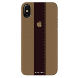 Dairy Cream And Brown Bramble Stripes Cover Case for iPhone XS