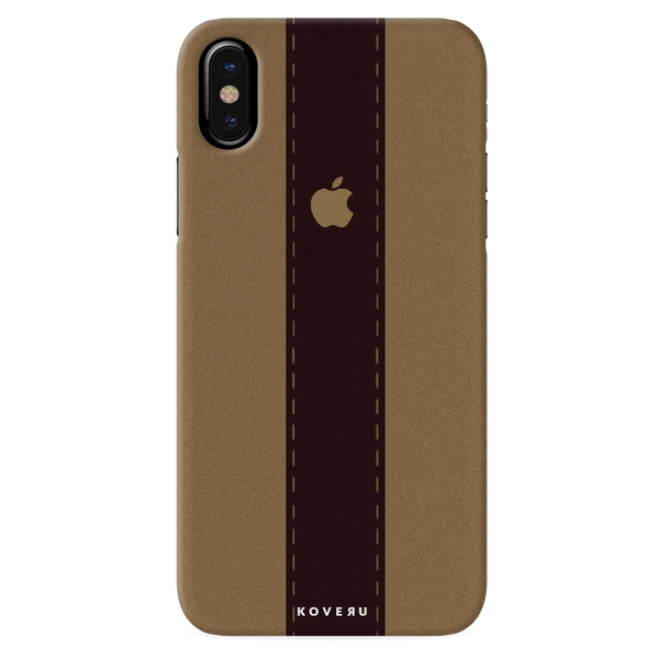 Dairy Cream And Brown Bramble Stripes Cover Case for iPhone X
