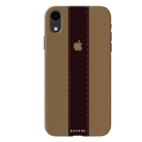 Dairy Cream And Brown Bramble Stripes Cover Case for iPhone XR