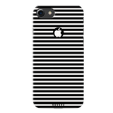 Jet Black and White Stripes Cover Case for iPhone 7/8