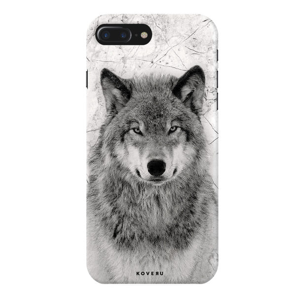Wolf Marble Cover Case for iPhone 7/8 Plus
