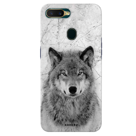 Wolf Marble Cover Case for Oppo A7