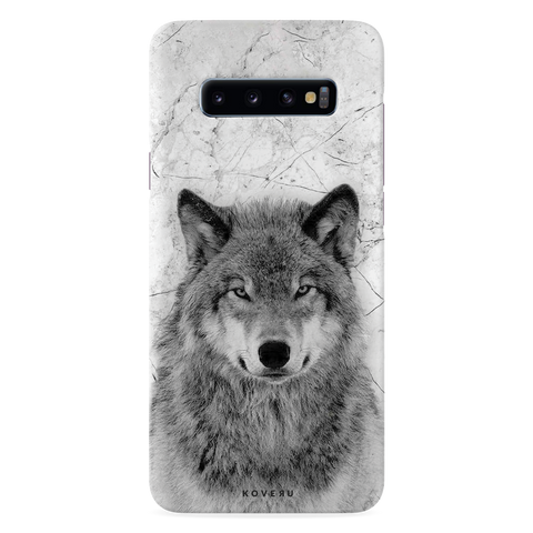 Wolf Marble Cover Case for Samsung Galaxy S10