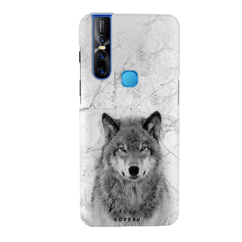 Wolf Marble Cover Case for Vivo V15