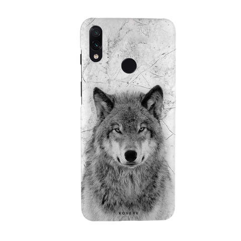 Wolf Marble Cover Case for Redmi Note 7 Pro