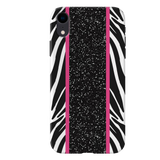 White Zebra Pattern Cover Case for iPhone XR