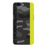 Black Camoflage and Neon Pattern Cover Case for OnePlus 5