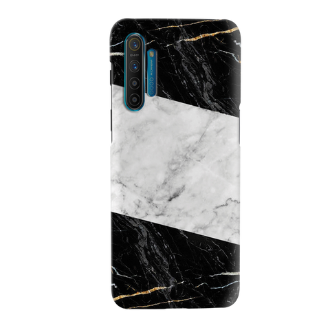 Black and White Holo Laser Marble Cover Case for Realme XT