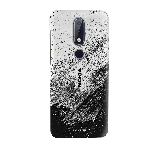 Distressed Overlay Texture Cover Case for Nokia 6.1 Plus