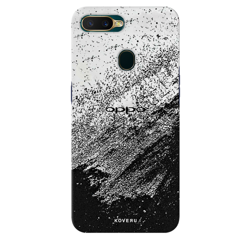 Distressed Overlay Texture Cover Case for Oppo A7