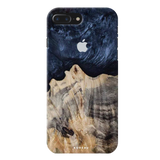Royal Blue and Wooden Texture Cover Case for iPhone 7/8 Plus