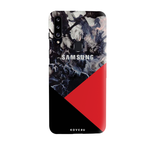 Red Splash Cover Case for Samsung Galaxy A20S