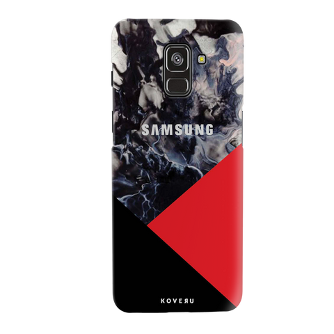 Red Splash Cover Case for Galaxy A8 Plus