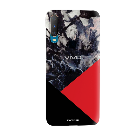 Red Splash Cover Case for Vivo Y17