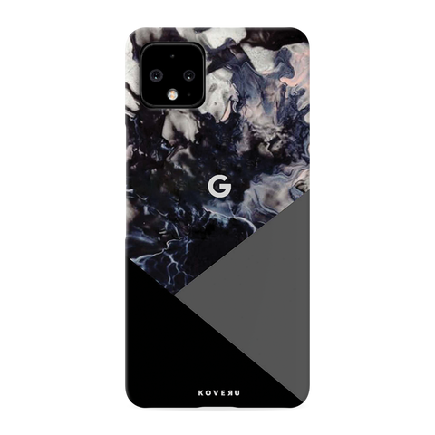 Black and Grey Splash Cover Case for Google Pixel 4 XL