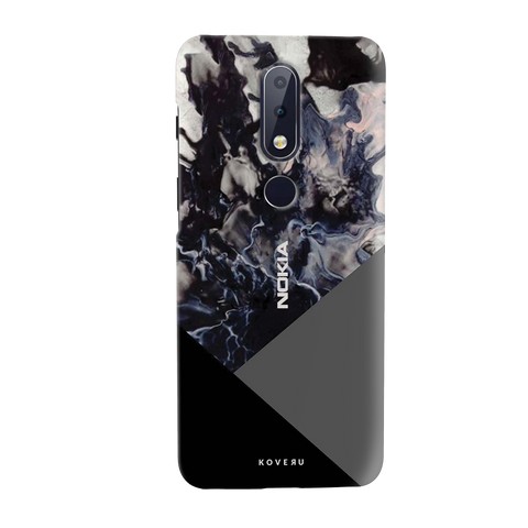 Black and Grey Splash Cover Case for Nokia 6.1 Plus