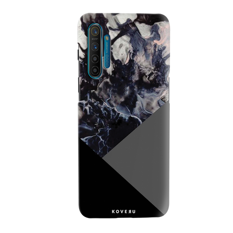 Black and Grey Splash Cover Case for Realme XT