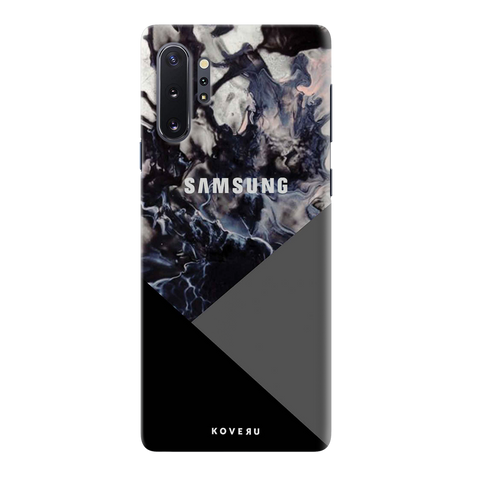 Black and Grey Splash Cover Case for Samsung Galaxy Note 10 Plus