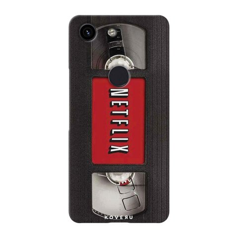 Netflix Cassette Cover Case for Google Pixel 3A