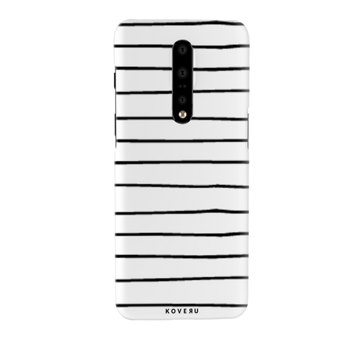 White Striped Lumbar Cover Case for OnePlus 7 Pro