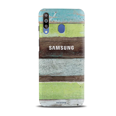 Coloured Wood Pattern Cover Case for Samsung Galaxy M30