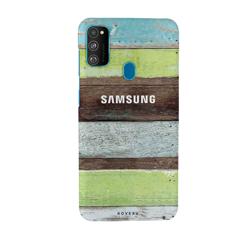 Coloured Wood Pattern Cover Case for Samsung Galaxy M30S