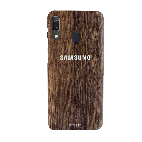 Textured Wood Cover Case for Samsung Galaxy A20