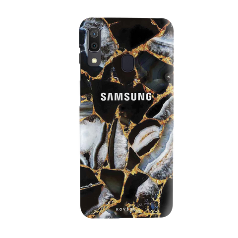 Black Stone Marble Cover Case for Samsung Galaxy A20