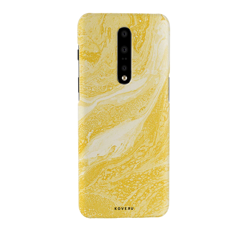 Yellow Marble Cover Case for OnePlus 7 Pro