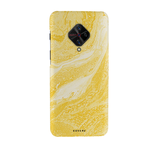 Yellow Marble Cover Case for Vivo S1 Pro