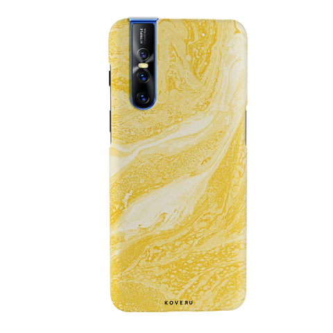 Yellow Marble Cover Case for Vivo V15 Pro