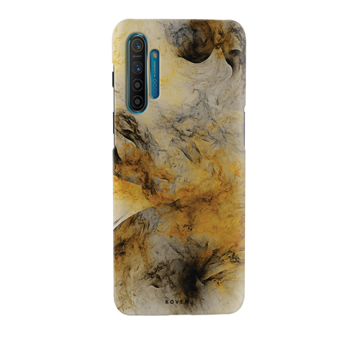 Yellow and Black Marble Cover Case for Realme XT