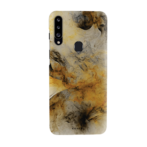 Yellow and Black Marble Cover Case for Samsung Galaxy A20S