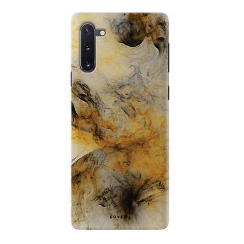 Yellow and Black Marble Cover Case for Samsung Galaxy Note 10