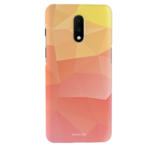 Polygon Pattern Cover Case for OnePlus 7