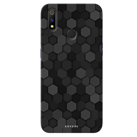 Hexagon Pattern Cover Case for Realme 3 Pro