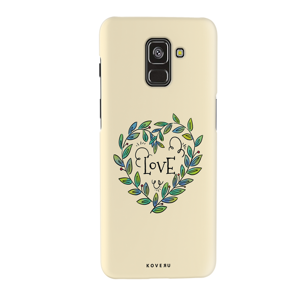 Petals Love Cover Case for Samsung Galaxy A8 Plus