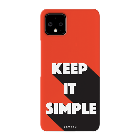 Keep it Simple Cover Case for Google Pixel 4