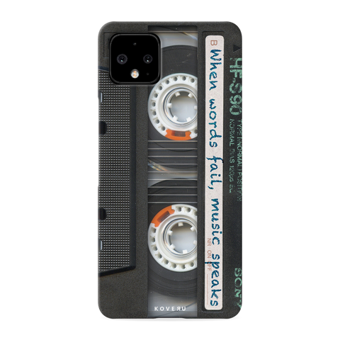 Sony Vintage Cassette Cover Case for Google Pixel 4
