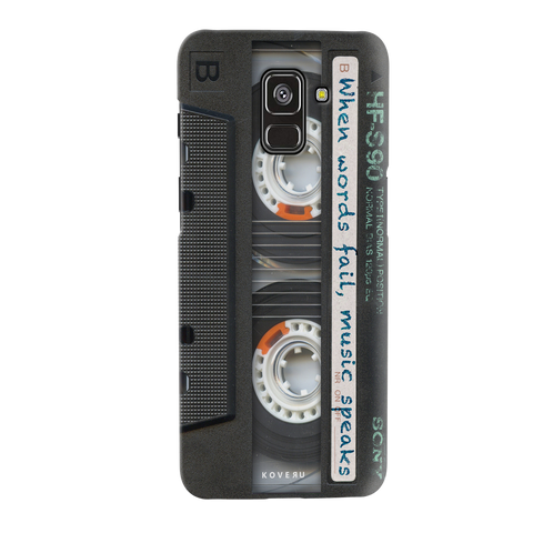 Sony Vintage Cassette Cover Case for Samsung Galaxy A8 Plus